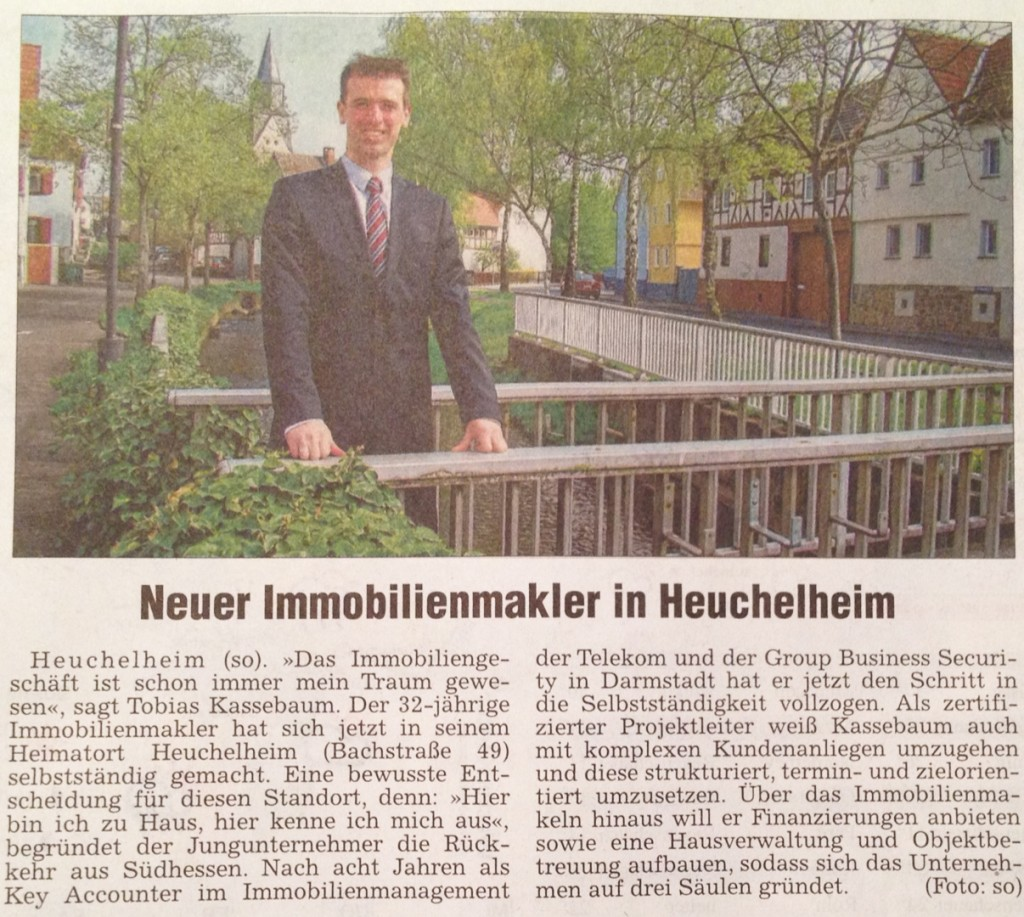 Neuer Immobilienmakler in Heuchelheim